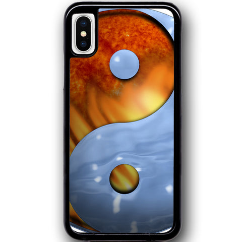 Fits Apple iPhone X - Ying Yang Fire Ice Case Phone Cover Y00949