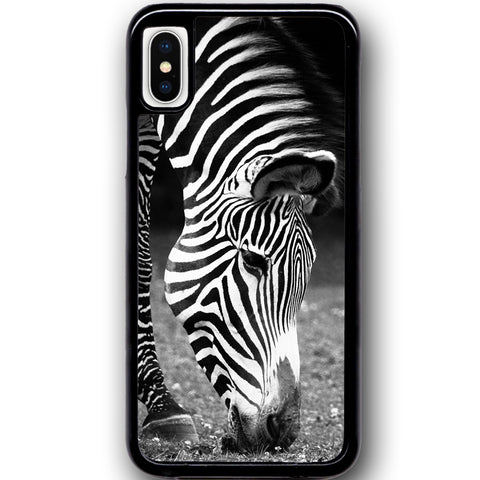 Fits Apple iPhone X - Zebra Natural Case Phone Cover Y00950