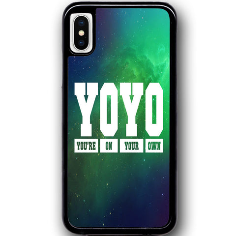 Fits Apple iPhone X - YOYO Saying Case Phone Cover Y00951