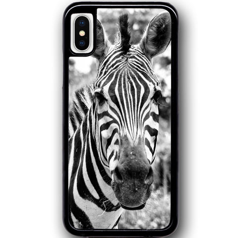 Fits Apple iPhone X - Zebra Real Case Phone Cover Y01056