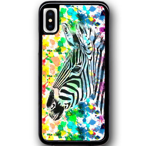 Fits Apple iPhone X - Zebra Beauty Case Phone Cover Y01096
