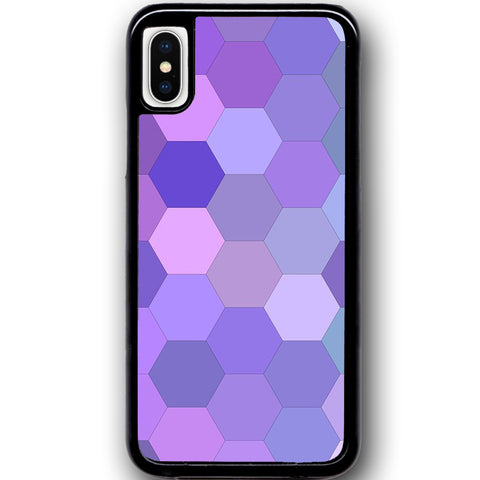 Fits Apple iPhone X - Pastel Hexagon Case Phone Cover Y01350