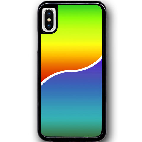 Fits Apple iPhone X - Yin Yang Rainbow Case Phone Cover Y01491