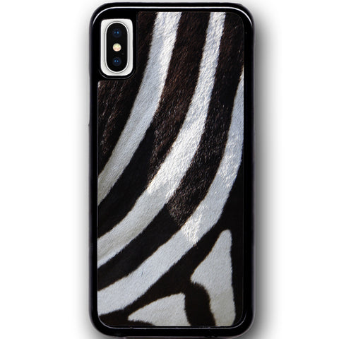 Fits Apple iPhone X - Zebra Fur Case Phone Cover Y01492