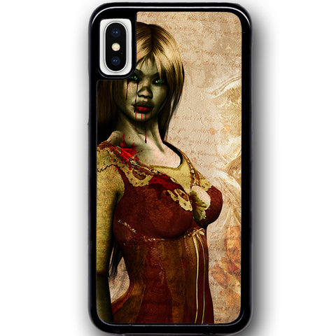 Fits Apple iPhone X - Zombie Mistress Case Phone Cover Y01494