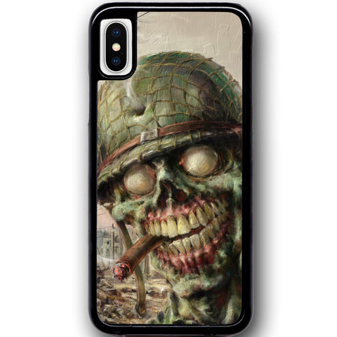 Fits Apple iPhone X - Zombie Soldier Case Phone Cover Y01495