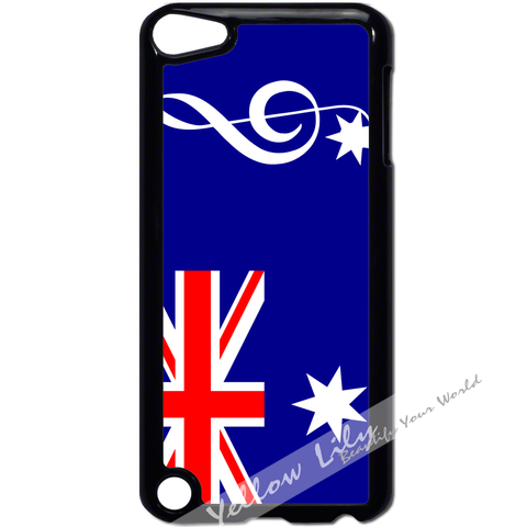 For Apple iPod Touch 5 - AUS Flag Music Case Phone Cover Y01192