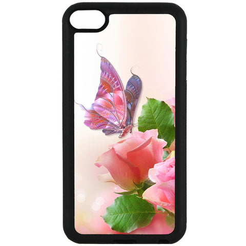 For Apple iPod Touch 6 - Butterflies Roses Case Phone Cover Y01085