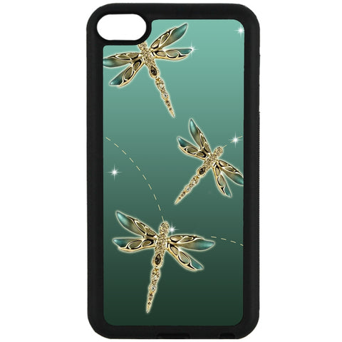 For Apple iPod Touch 6 - Dragonfly Sparkle Case Phone Cover Y01092