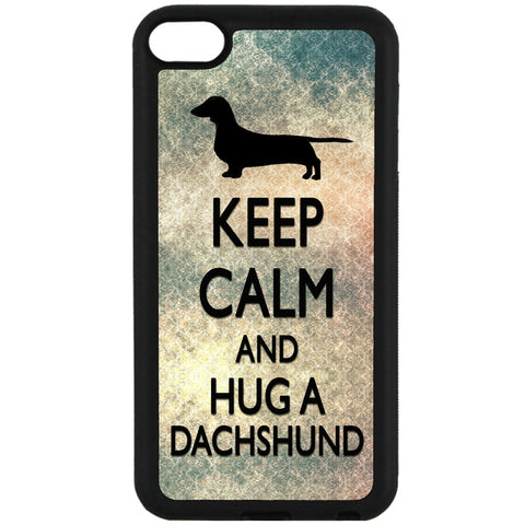 For Apple iPod Touch 6 - Hug A Dachshund Case Phone Cover Y01109