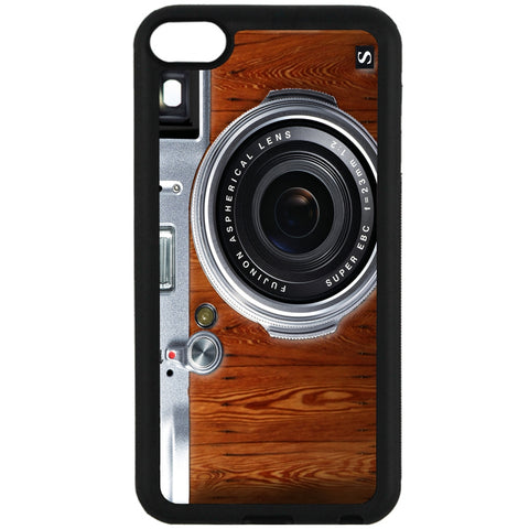 For Apple iPod Touch 6 - Woodgrain Camera Case Phone Cover Y01135