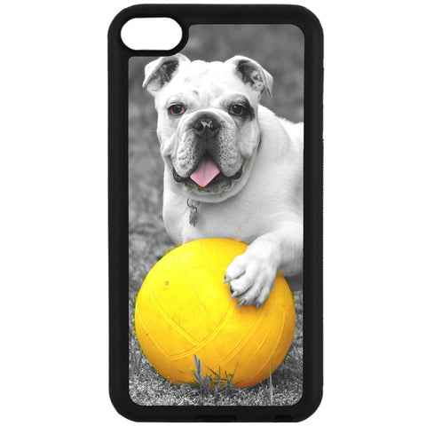 For Apple iPod Touch 6 - Dog Yellow Ball Case Phone Cover Y01249