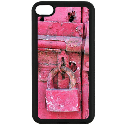 For Apple iPod Touch 6 - Hot Pink Lock Case Phone Cover Y01306