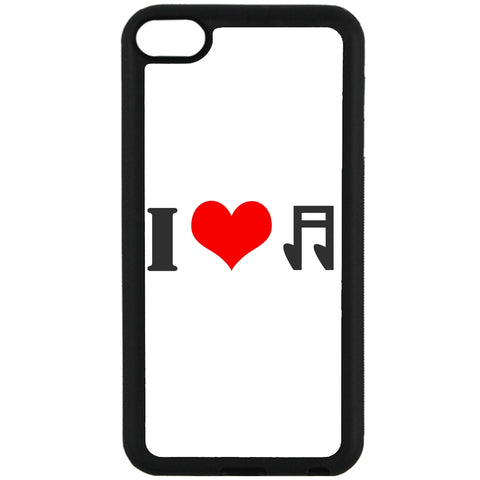 For Apple iPod Touch 6 - I Love Music Case Phone Cover Y01307