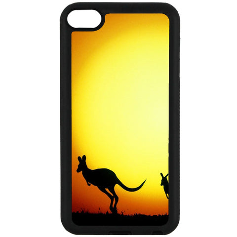 For Apple iPod Touch 6 - Kangaroo Sunset Case Phone Cover Y01312