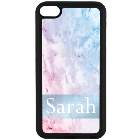 For Apple iPod Touch 6 - PERSONALISED Name Pretty Marble Case Phone Cover Y01540