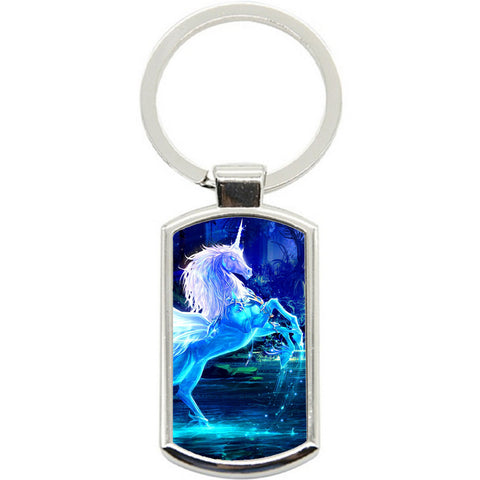 KeyRing Stainless Steel Key Chain Ring - Unicorn Magic Y00001