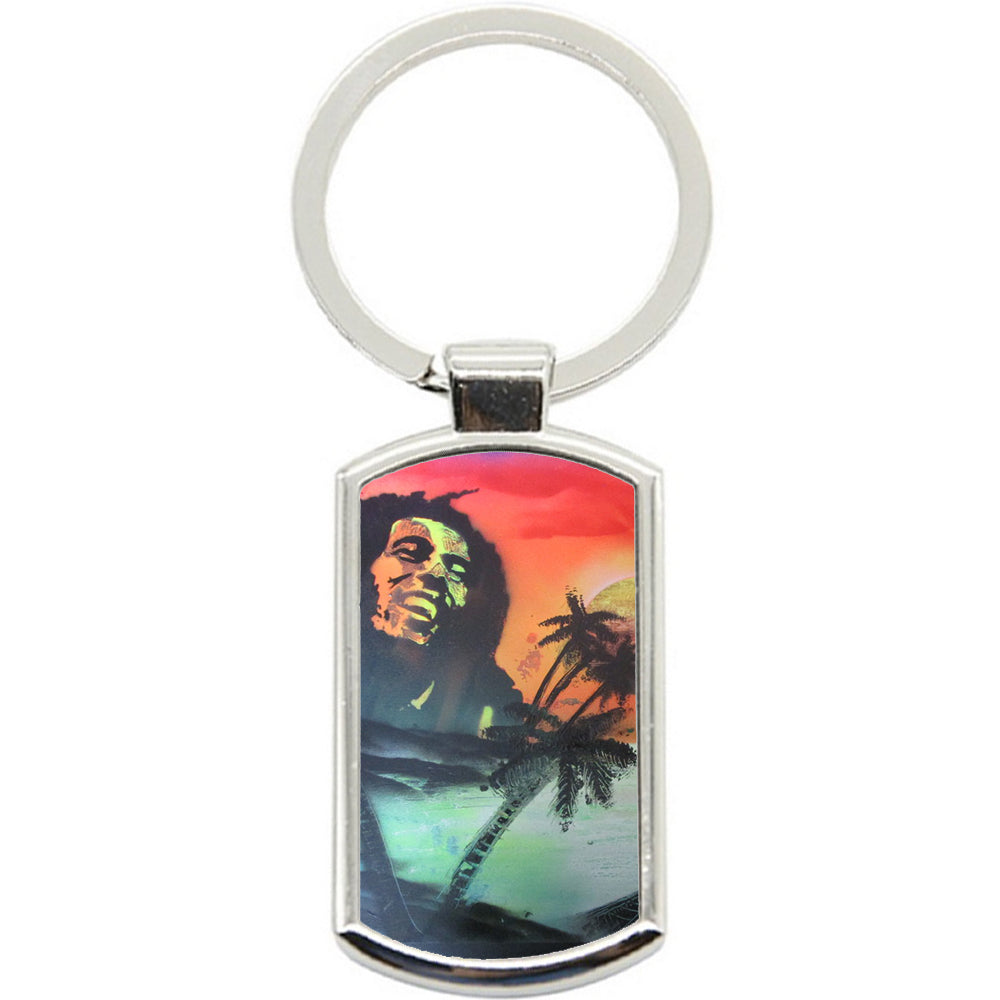 KeyRing Stainless Steel Key Chain Ring - Bob Marley Y00015