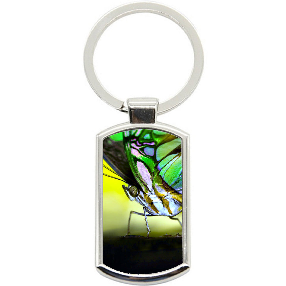 KeyRing Stainless Steel Key Chain Ring - Butterfly Bright Y00029