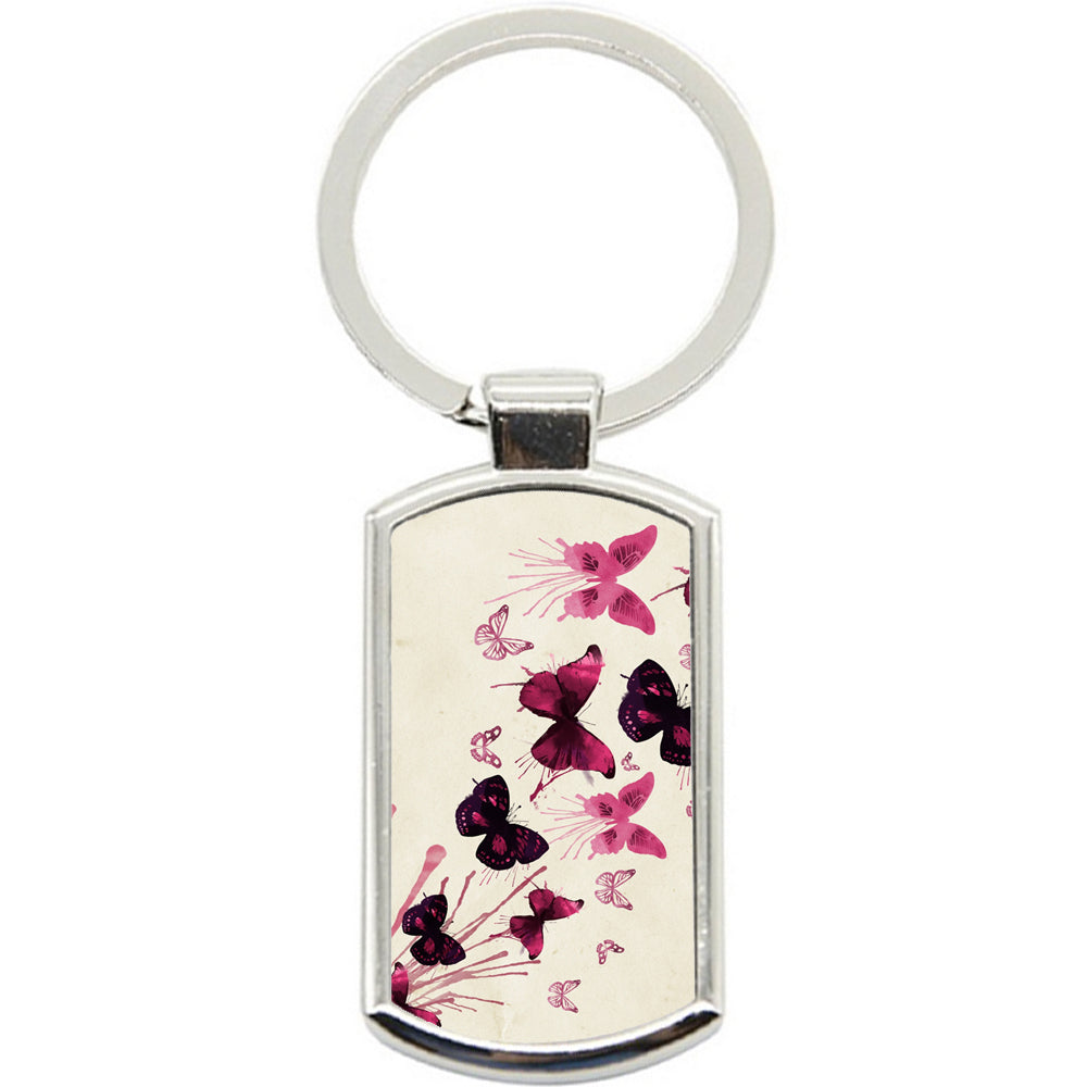 KeyRing Stainless Steel Key Chain Ring - Butterfly Y00040
