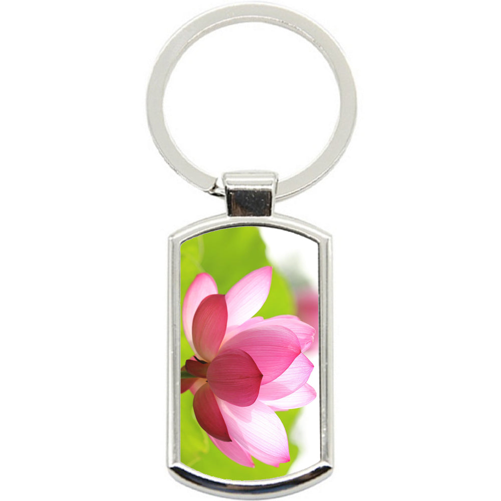 KeyRing Stainless Steel Key Chain Ring - Flower Gorgeous Y00055