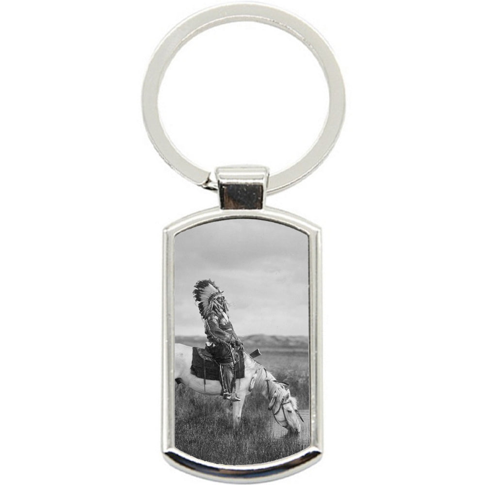 KeyRing Stainless Steel Key Chain Ring - Indian Chief Y00059