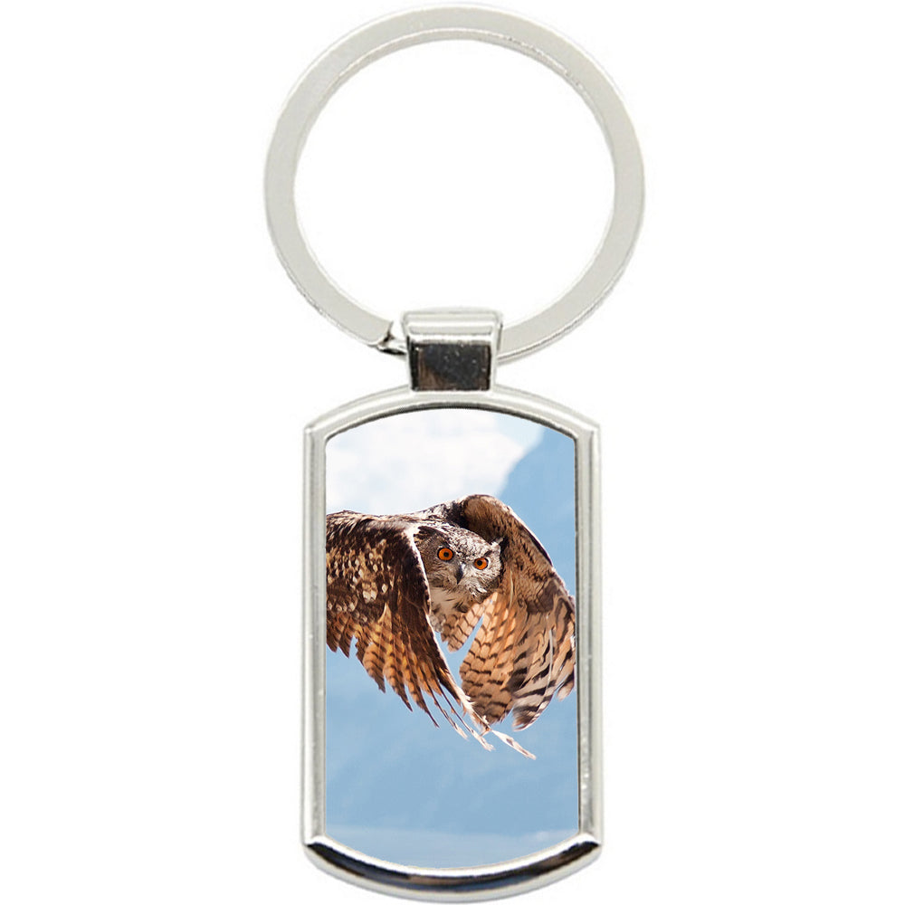 KeyRing Stainless Steel Key Chain Ring - Flying Owl Y00070