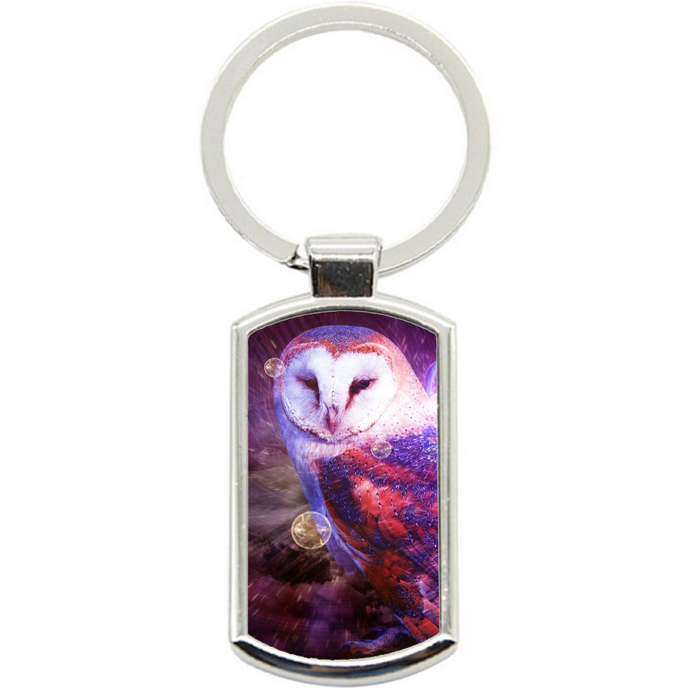 KeyRing Stainless Steel Key Chain Ring - Owl Pretty Y00075