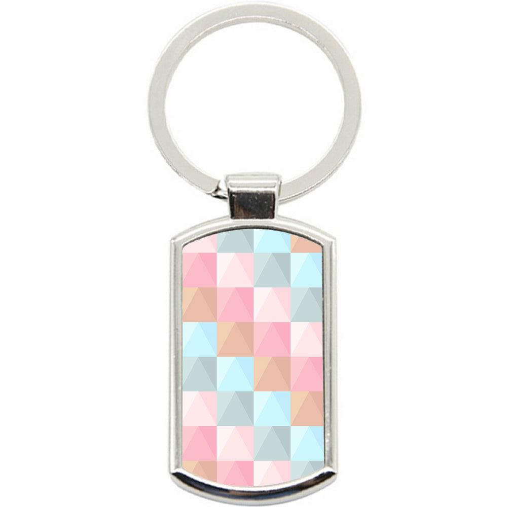 KeyRing Stainless Steel Key Chain Ring - Pastel Pattern Y00105