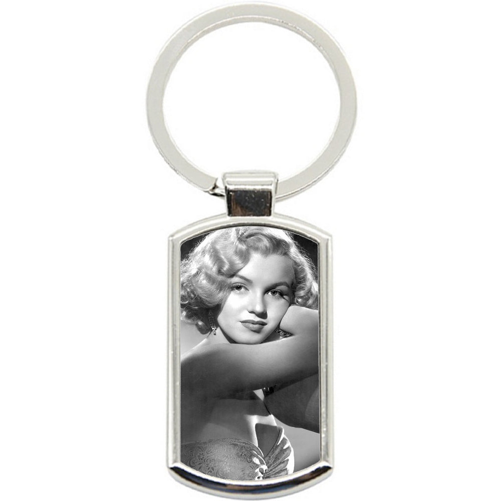 KeyRing Stainless Steel Key Chain Ring - Marylin Monroe Y00114