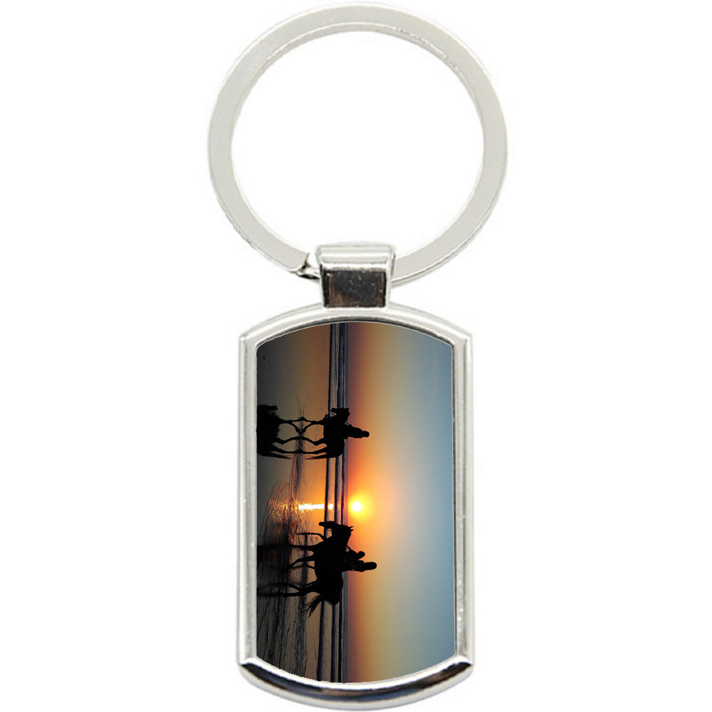 KeyRing Stainless Steel Key Chain Ring - Ocean Horse Y00115