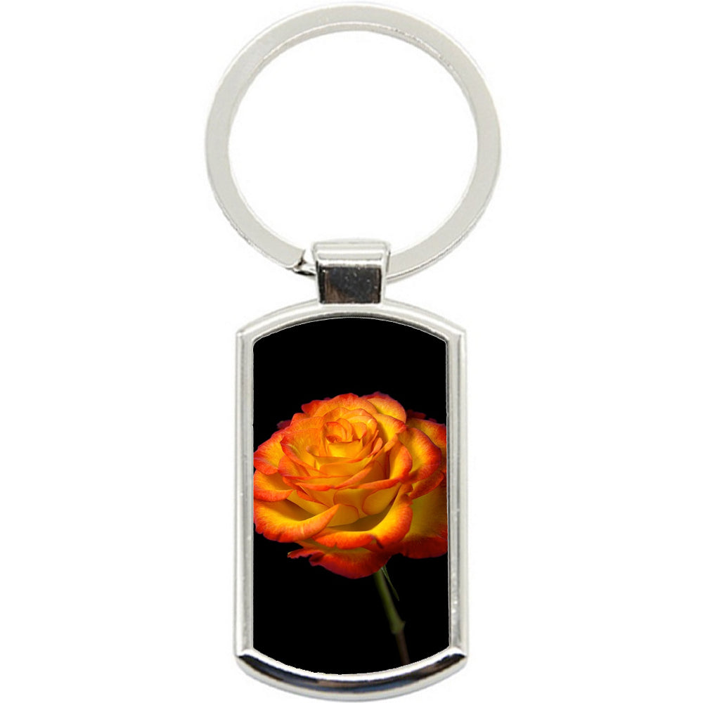 KeyRing Stainless Steel Key Chain Ring - Red Gold Rose Y00121