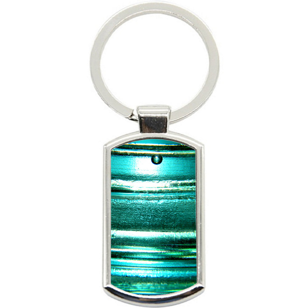 KeyRing Stainless Steel Key Chain Ring - Teal Green Y00165