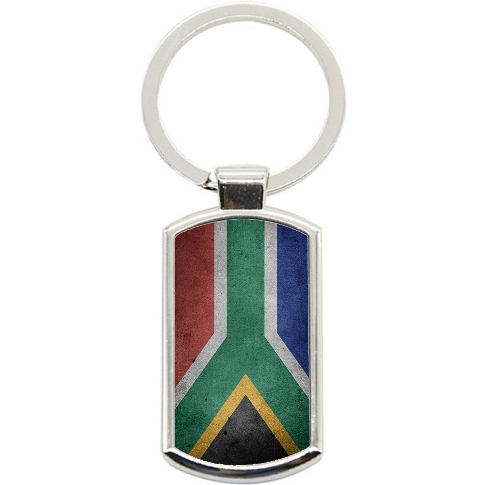 KeyRing Stainless Steel Key Chain Ring - South Africa Flag Y00226