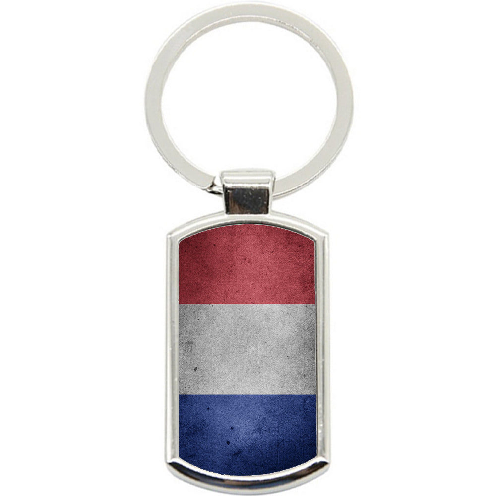 KeyRing Stainless Steel Key Chain Ring - France Flag Y00229