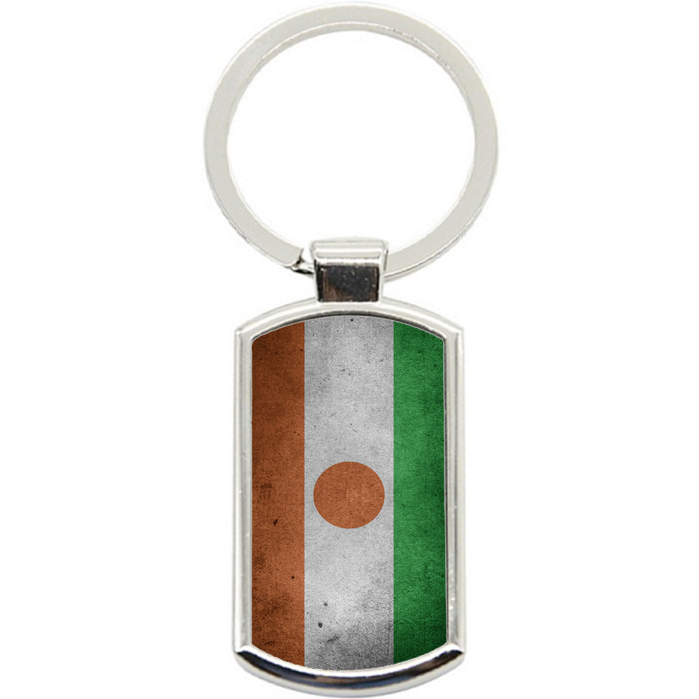 KeyRing Stainless Steel Key Chain Ring - Niger Flag Y00257