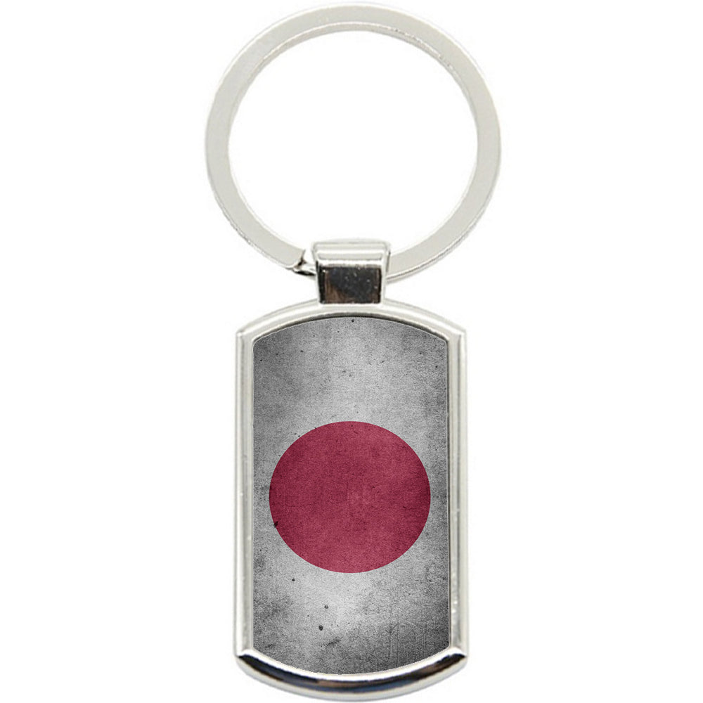KeyRing Stainless Steel Key Chain Ring - Japan Flag Y00278