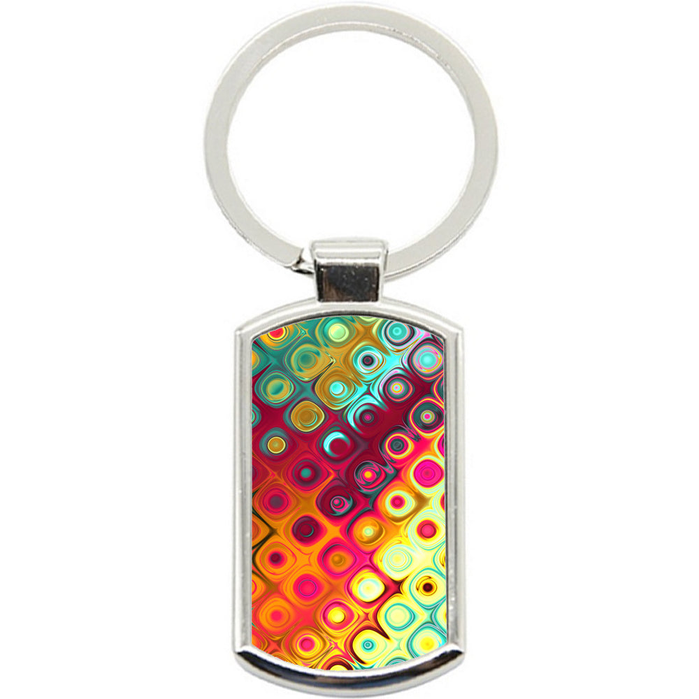 KeyRing Stainless Steel Key Chain Ring - Circle Art Y00283