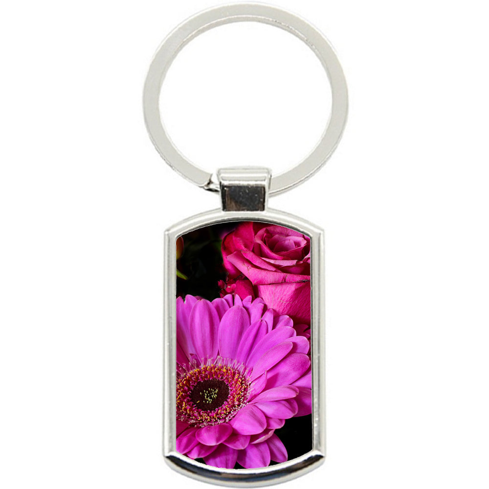 KeyRing Stainless Steel Key Chain Ring - Pretty Flowers Y00292