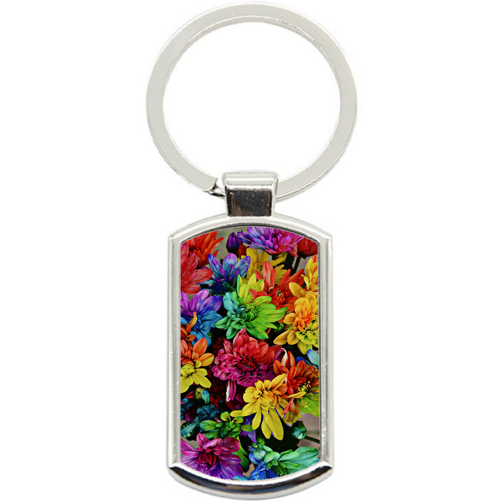 KeyRing Stainless Steel Key Chain Ring - Pretty Flowers Y00321