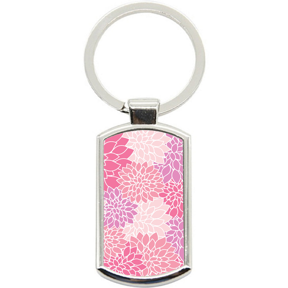 KeyRing Stainless Steel Key Chain Ring - Purple Pink Art Y00325