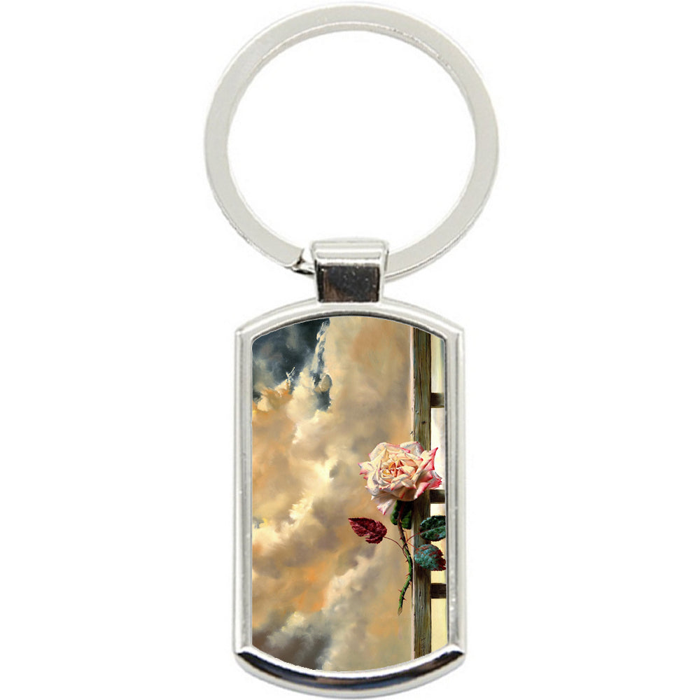 KeyRing Stainless Steel Key Chain Ring - Rose Storm Y00333
