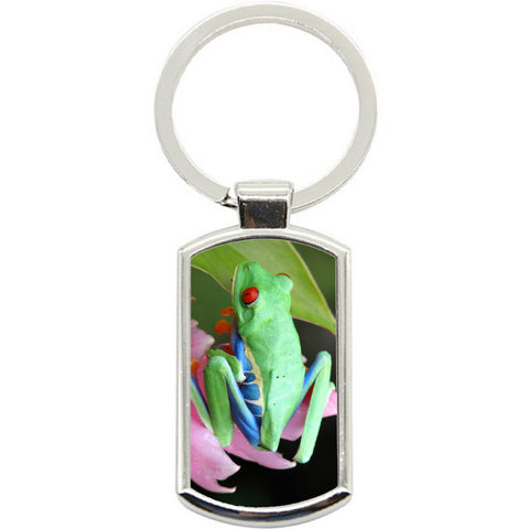 KeyRing Stainless Steel Key Chain Ring - Tree Frog Y00582