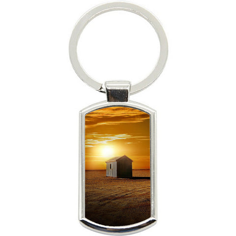 KeyRing Stainless Steel Key Chain Ring - Sunset Farm Y00653