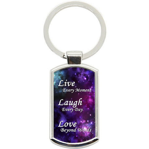 KeyRing Stainless Steel Key Chain Ring - Love Beyond Words Y01043