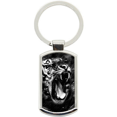 KeyRing Stainless Steel Key Chain Ring - Tiger Storm Y01602