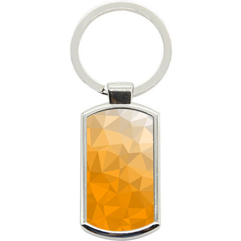 KeyRing Stainless Steel Key Chain Ring - Yellow Texture Y01603
