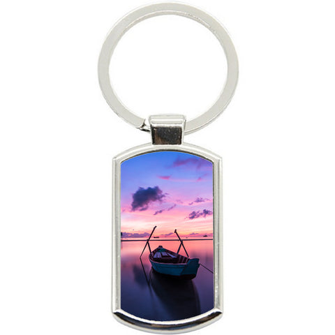 KeyRing Stainless Steel Key Chain Ring - Phu Quoc Sunset Y01605