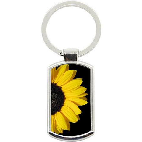 KeyRing Stainless Steel Key Chain Ring - Sunflower Y01606