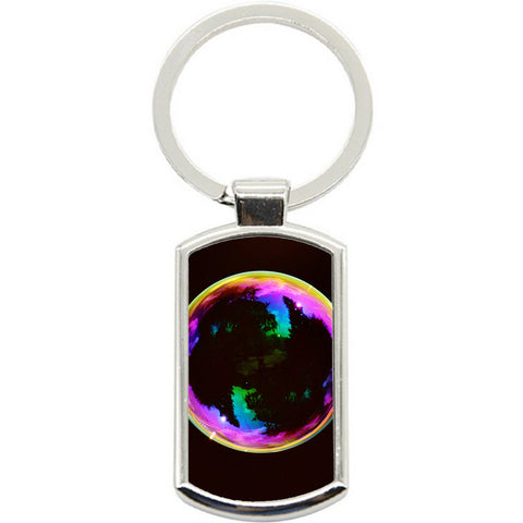 KeyRing Stainless Steel Key Chain Ring - Bubble Mirror Y01608
